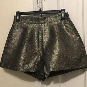 New Sparkling Gold Shorts Fashionable